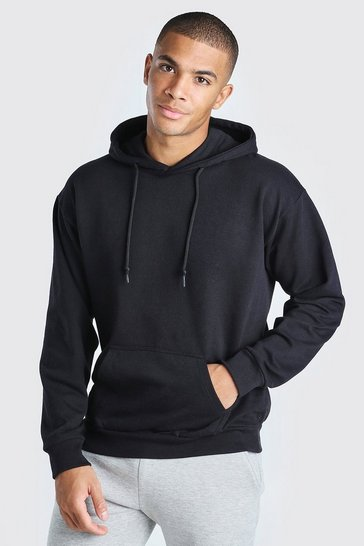 Black Basic Over The Head Hoodie