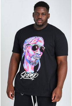 Black Plus Size Snoop Shapes License T-Shirt