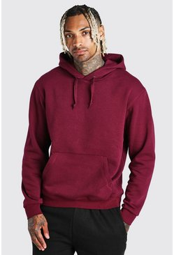 Burgundy red Basic Over The Head Hoodie