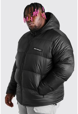 Black svart Big & Tall MAN Branded Hand Filled Puffer