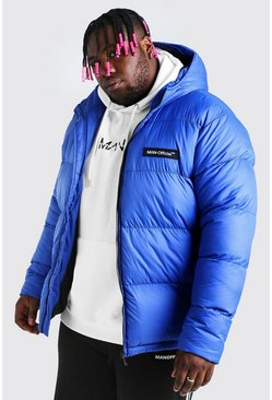 Blue blå Big & Tall MAN Branded Hand Filled Puffer