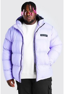 Lilac purple Plus Size MAN Branded Hand Filled Puffer