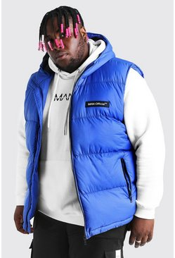 Blue Big & Tall MAN Branded Padded Gilet