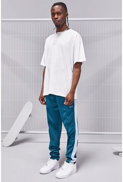 Teal green MAN SS20 Oversized T-Shirt Tricot Jogger Set