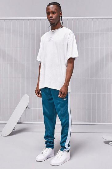 Teal MAN SS20 Oversized T-Shirt/Tricot Jogger Set