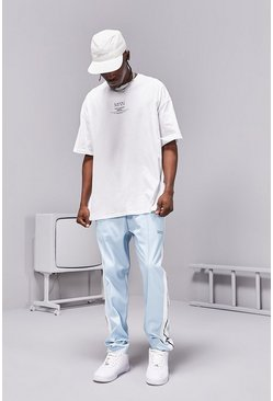 Powder blue blue Man SS20 Oversized t-shirt and jogger/short