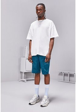 Teal MAN SS20 Oversized T-Shirt/Tricot Short Set
