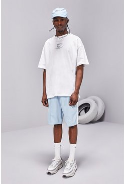 Powder blue blue MAN SS20 Oversized T-Shirt/Tricot Short Set