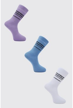 Multi 3 Pack Official Man Sock