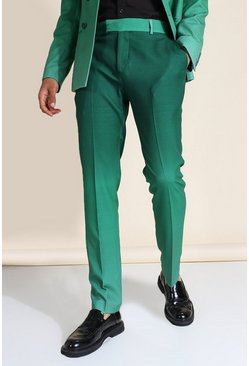 Skinny Green Ombre Suit Trousers