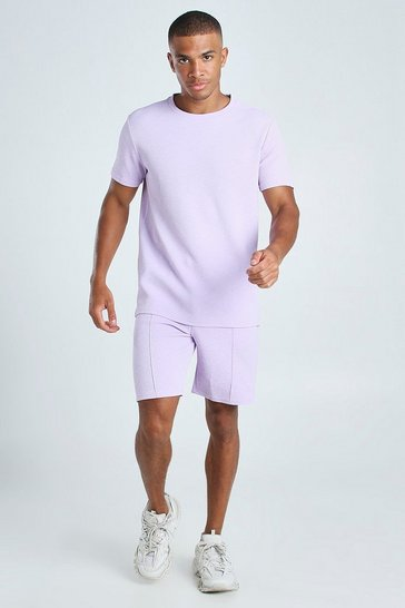 X-Future Men Short Sleeve T-Shirt /& Shorts Summer Two Piece Slim Athletic Outfit Set