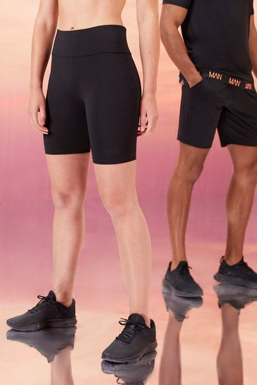 Black Hers Active Cycling Shorts