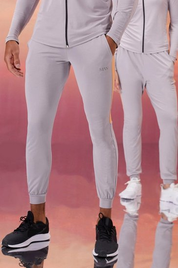 Grey His Active Skinny Fit Jogger