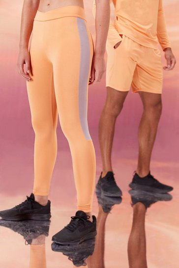 Peach orange Hers Active Tight With Crossed Waistband