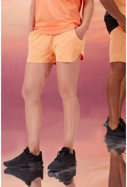Peach orange Hers Active Runner Short With Man Waistband