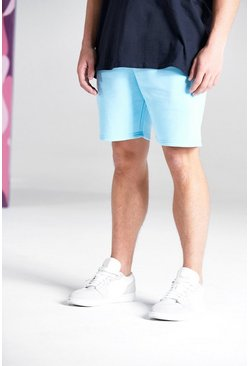Basic Mid Length Jersey Short, Pale blue Синий