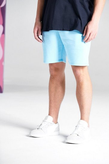 Pale blue BASIC MID LENGTH JERSEY SHORT