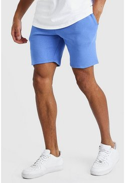 Cornflower blue blue BASIC MID LENGTH JERSEY SHORT