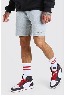 Grey marl grey Man Signature Mid Length Short