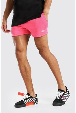 Coral pink MAN SIGNATURE SHORT LENGTH SHORT