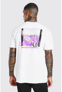 Oversized MAN Official Photo Back Print T-Shirt, White