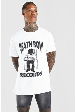 Camiseta con estampado de licencia Deathrow, Blanco