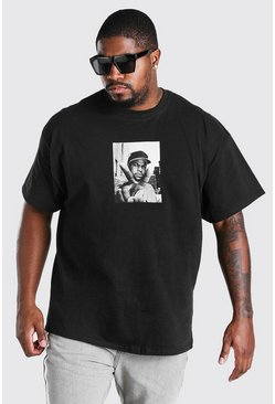 Black Plus Size Ice Cube Peace License T-Shirt