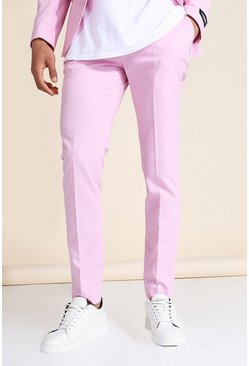 Pink Skinny Suit Trousers
