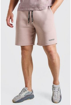 Plus Size MAN Short with Elastic Waistband, Pink Розовый