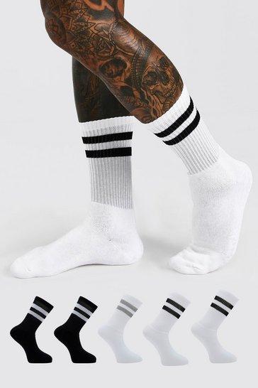 5 Pack Multi Stripe Sport Socks