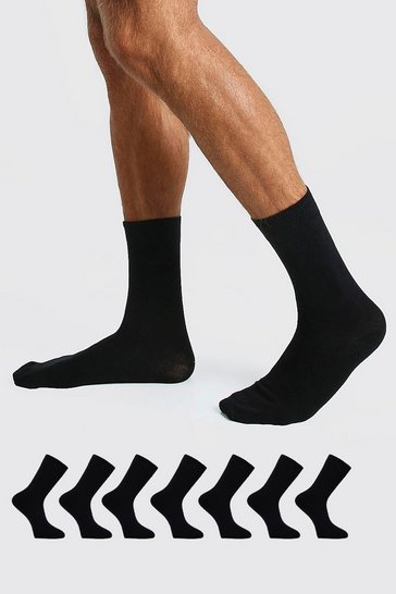 Black 7 Pack Suit Socks