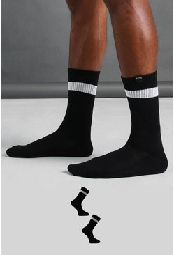 Multi MAN Active 2 Pack Socks With Reflective Tab