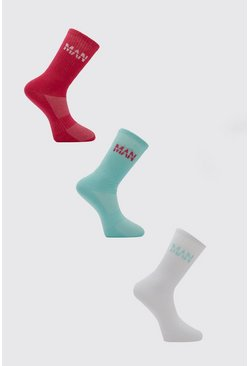 Blue MAN Active 3 Pack Socks