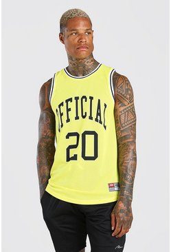 Yellow MAN Official Airtex Basketball Vest