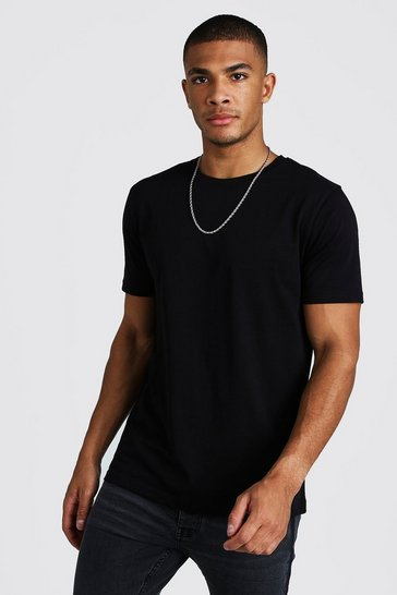 Black Basic Crew Neck T-Shirt