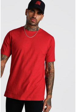 Red Basic Crew Neck T-Shirt