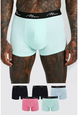 MAN Script Multi Colour 5PK Boxer