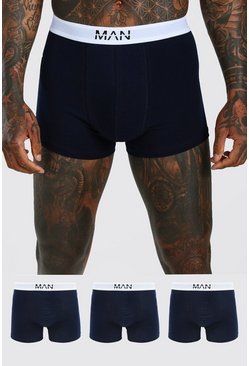 Navy MAN Dash 3PK Boxer With Contrast Waistband