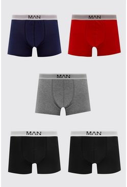 MAN Dash Multi Colour 5 PK Boxer
