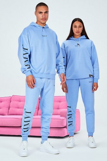 Blue His Oversized Tracksuit With Elastic Drawcord & Tab