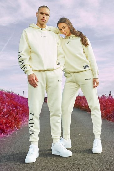 Stone Hers Oversized Elastic Drawcord & Tab Tracksuit