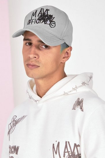 Grey marl grey Graffiti Cap