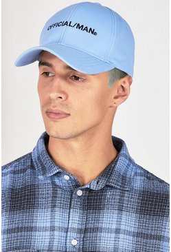 Blue MAN Official Branded Curve Peak Cap