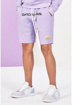 Lilac grey grå Mid Length Official Man Print Jersey Short