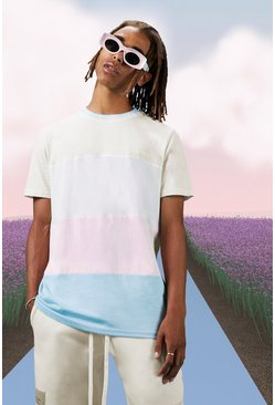 Stone Jacquard Rib Colour Block Tee