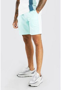 Mint green MAN Tricot Mid Length Short With Side Tape