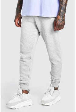 Grey marl grå Joggers i super skinny fit