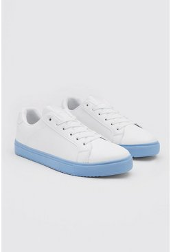 Blue Sole Cupsole Trainer