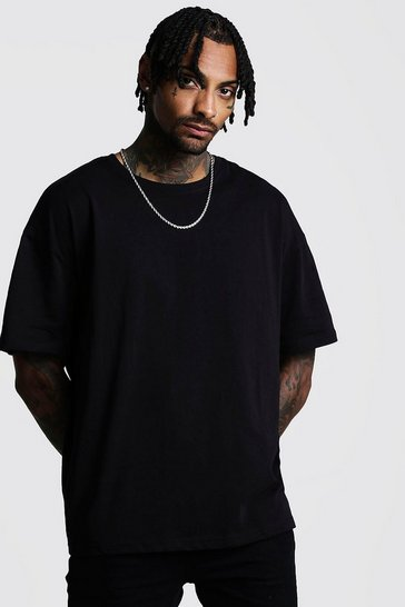 Black Oversized Crew Neck T-Shirt