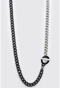 Multi Chain Necklace With T-Bar Fastener